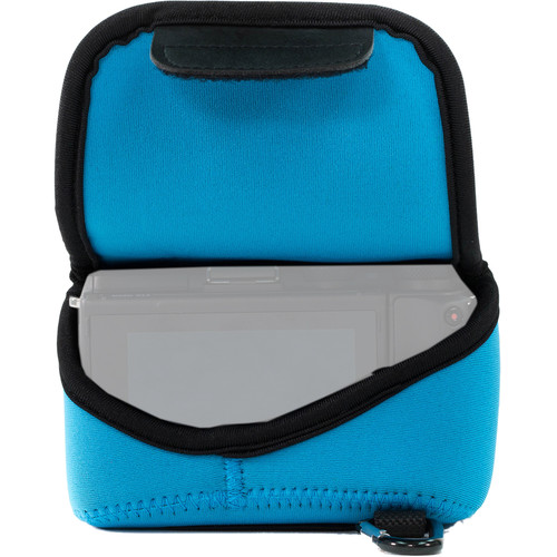 MegaGear MG1038 Ultra Light Neoprene Case with Carabiner for Canon EOS M5 with 15-45mm (Blue)