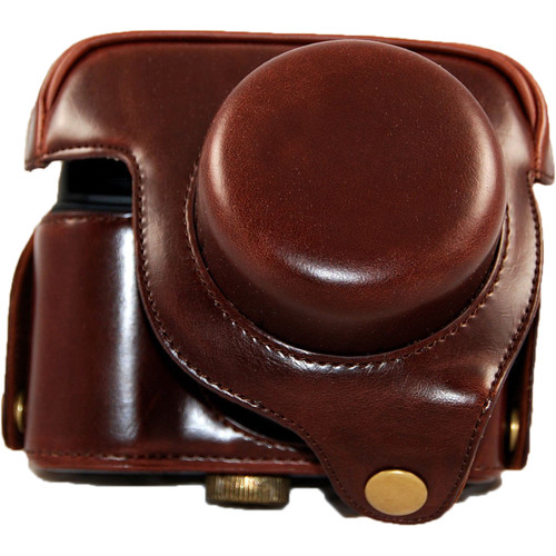 MegaGear Ever Ready PU Leather Camera Case and Strap for Canon PowerShot G1X (Dark Brown)