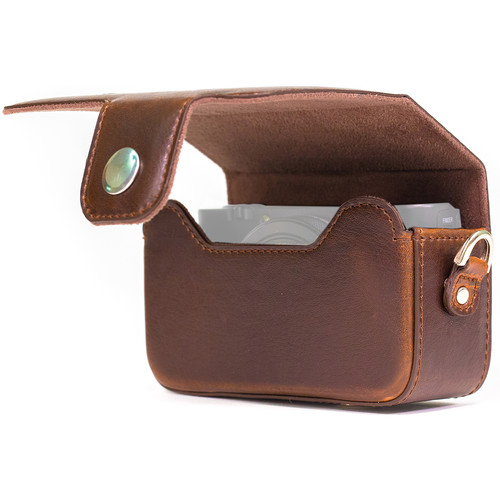 MegaGear Form-Fitted Leather Camera Case for Canon PowerShot SX280 HS (Brown)