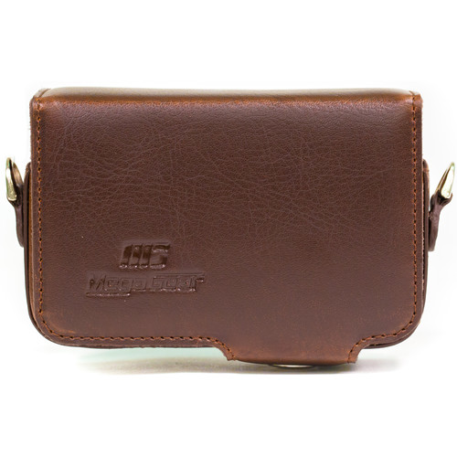 MegaGear Leather Case with Belt Loop for Select RX100 Series Cameras (Dark Brown)