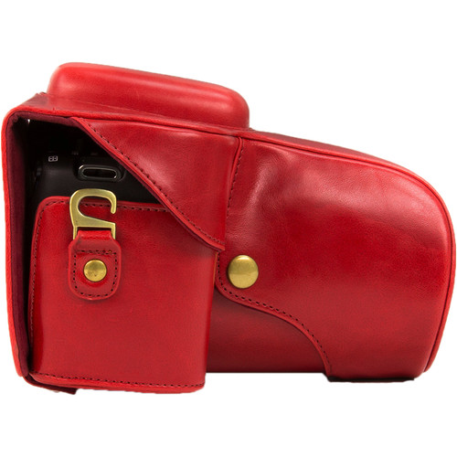 MegaGear Ever Ready PU Leather Case for Canon EOS Rebel T3, T2i, T2, 500D, 1000D with 18-55mm Lens (Red)