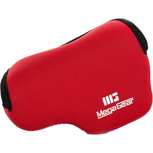 MegaGear Ultra-Light Neoprene Case for Panasonic Lumix DC-GX850, DC-GF9, DMC-GF8, or DMC-GF7 with 12-32mm (Red)