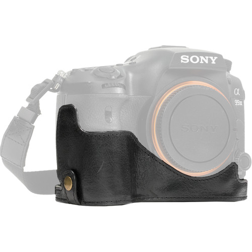 MegaGear Ever Ready Half-Bottom Protective Leather Case for Sony Alpha A99 II (Black)