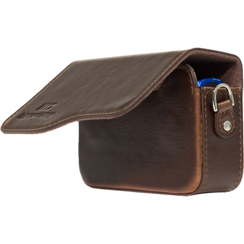 MegaGear Leather Case with Strap for Select Canon PowerShot Cameras (Dark Brown)