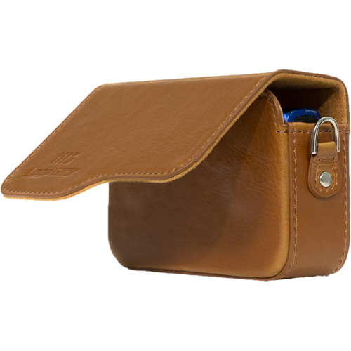 MegaGear Leather Case with Strap for Select Canon PowerShot Cameras (Light Brown)