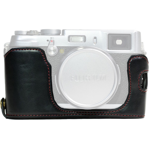 MegaGear Ever Ready Half-Bottom Protective Leather Case for Fujifilm X100S (Black)