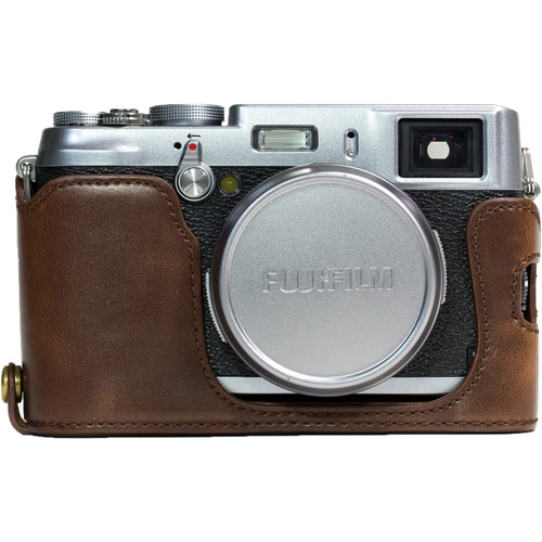 MegaGear Ever Ready PU Leather Half Case for Fujifilm X100S (Dark Brown)