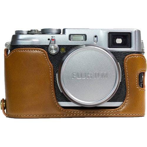 MegaGear Ever Ready PU Leather Half Case for Fujifilm X100S (Light Brown)
