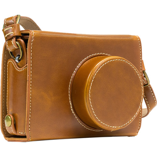 MegaGear Ever Ready Leather Camera Case for Fujifilm X100S (Light Brown)