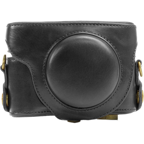 MegaGear Ever Ready Leather Camera Case for Panasonic Lumix DMC-LX7 (Black)