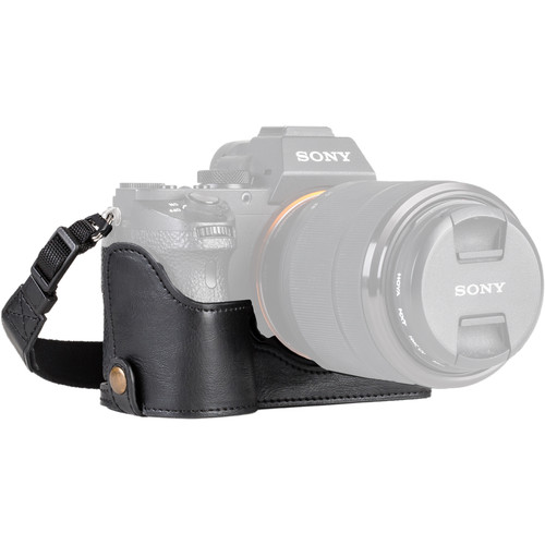 MegaGear Ever Ready Half-Bottom Protective Cover for Sony a7S II, a7R II, and a7 II with 28-70mm Lens (Black)