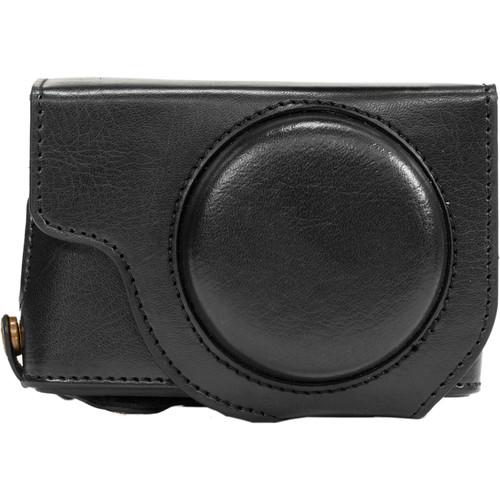 MegaGear Ever Ready Leather Camera Case for Panasonic LUMIX DMC-LX10 (Black)