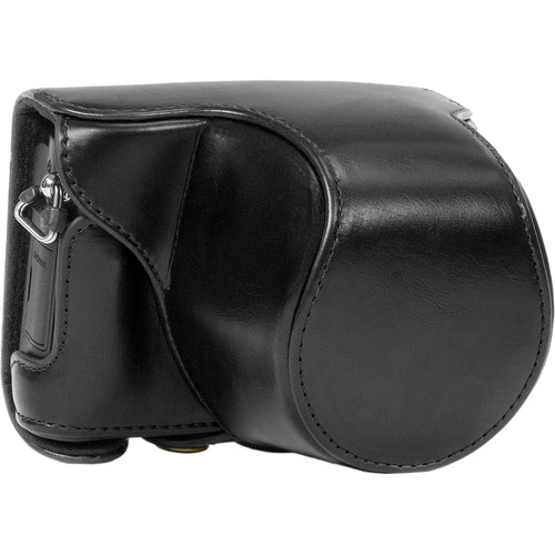 MegaGear MG113 Ever Ready Leather Case with Bottom Opening for Panasonic GM1 with 12-32mm (Black)