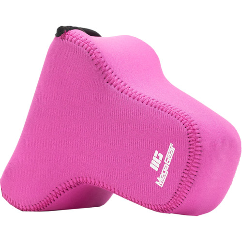 MegaGear Ultralight Neoprene Case for Canon EOS M6 with 18-150mm Lens (Hot Pink)