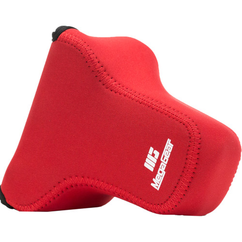 MegaGear Ultra-Light Neoprene Case for Canon EOS M6 with 18-150mm Lens (Red)