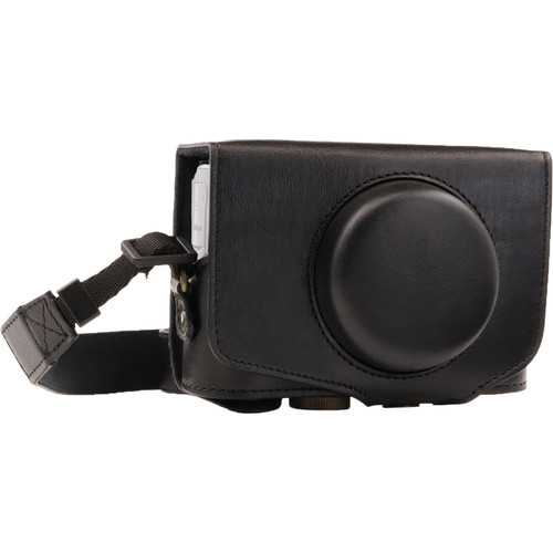 MegaGear Ever Ready Leather Camera Case for Canon PowerShot SX730 HS (Black)