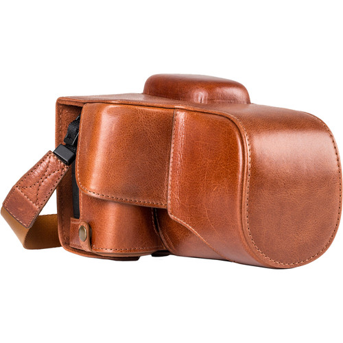 MegaGear Ever Ready Leather Case with Strap for Canon EOS Rebel T7i, 800D, Kiss X9i, 77D, 9000D and 18-55mm (Dark Brown)
