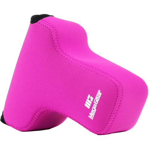 MegaGear Ultra-Light Neoprene Camera Case for Olympus OM-D E-M5 Mark II with Carabiner (Hot Pink)