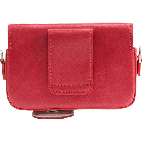 MegaGear Leather Case with Belt Loop for Select RX100 Series Cameras (Red)