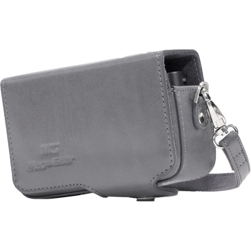 MegaGear Leather Case with Belt Loop for Select RX100 Series Cameras (Gray)
