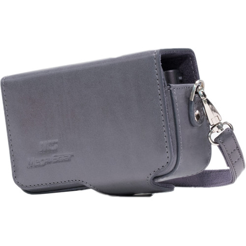 MegaGear PU Leather Case with Strap for Sony Cyber-shot DSC-HX95, HX99, HX80, HX90V, WX500 (Gray)
