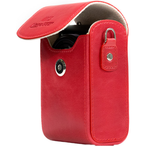 MegaGear MG1212 Ever Ready Leather Camera Case/Bag Protective Cover (Red)