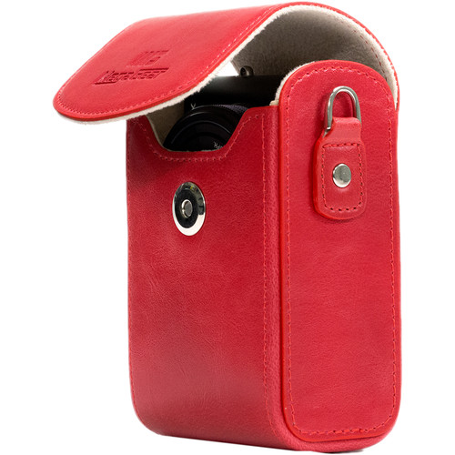 MegaGear Leather Camera Case for Canon PowerShot G7 X Mark II or Canon PowerShot G7 X (Red)