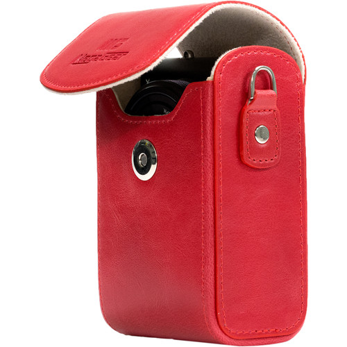 MegaGear Protective Leather Camera Case for Nikon COOLPIX A900 (Red)