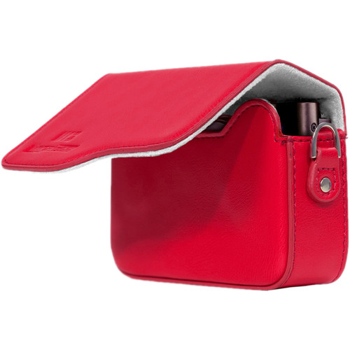 MegaGear PU Leather Camera Case with Strap for Canon PowerShot G9 X Mark II or G9 X (Red)