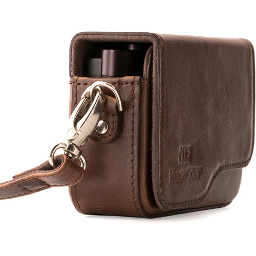 MegaGear PU Leather Camera Case with Strap for Canon PowerShot G9 X Mark II or G9 X (Dark Brown)