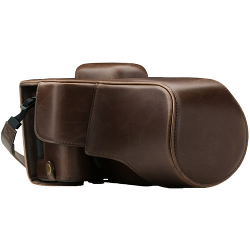 MegaGear Ever Ready Camera Case for Canon EOS 77D, 9000D with 18-135 (Dark Brown)