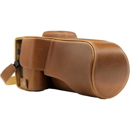 MegaGear Ever Ready Camera Case for Canon EOS 77D, 9000D with 18-135 (Light Brown)