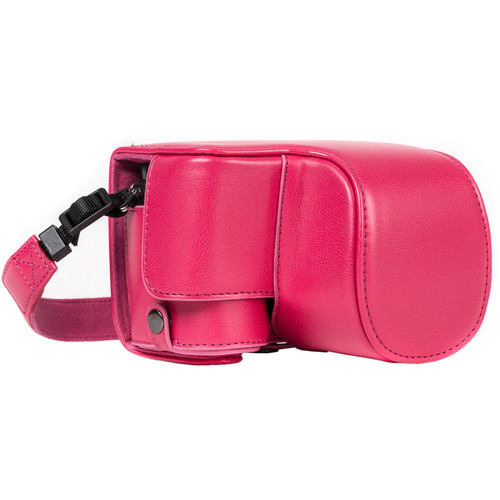 MegaGear Ever Ready Case for Sony a6500 with 16-50mm Lens (Hot Pink)