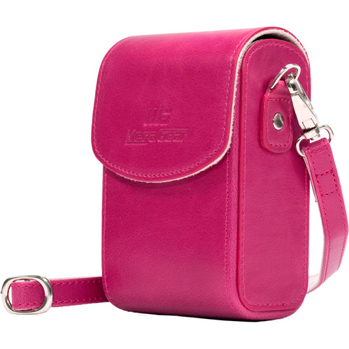 MegaGear Protective Leather Camera Case for PowerShotS120, COOLPIX P340, L28, Lumix ZS50, TZ70, ZS45, TZ57, Select Cyber-Shot (Hot Pink)