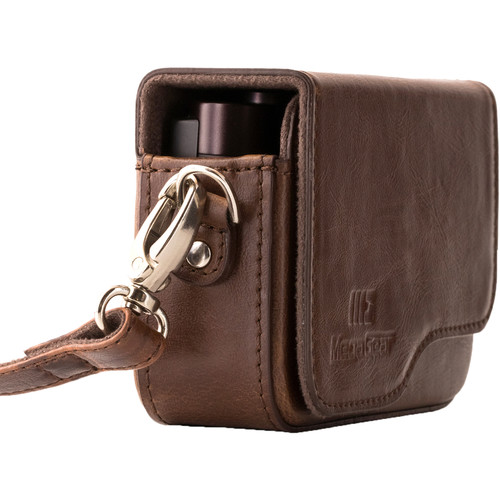 MegaGear Ever Ready PU Leather Camera Case for Leica C Typ 112 (Dark Brown)