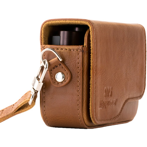 MegaGear Ever Ready PU Leather Camera Case for Leica C Typ 112 (Light Brown)