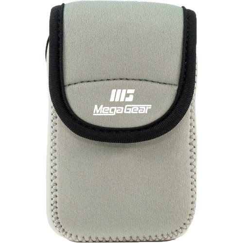 MegaGear Ultralight Neoprene Camera Case for Nikon Coolpix W300, AW130, Ricoh WG30W, WG50 (Gray)