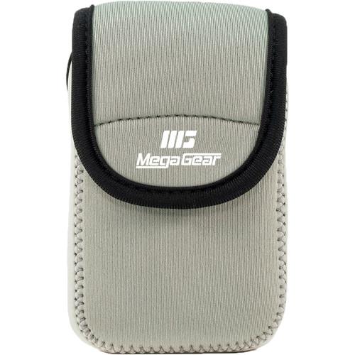 MegaGear Ultra-Light Neoprene Camera Case for Nikon Coolpix W300, AW130, Ricoh WG30W, WG50 (Gray)