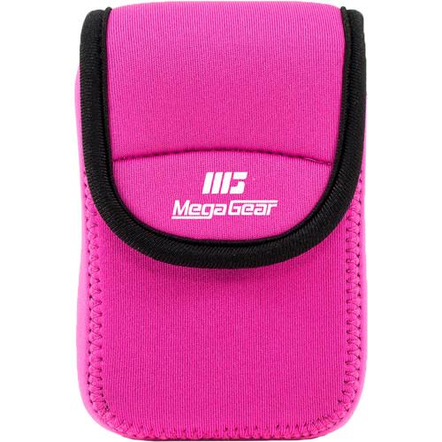 MegaGear Ultralight Neoprene Camera Case for Nikon Coolpix W300, AW130, Ricoh WG30W, WG50 (Hot Pink)