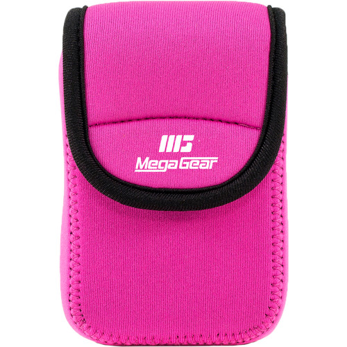MegaGear Ultra-Light Neoprene Camera Case for Nikon Coolpix W300, AW130, Ricoh WG30W, WG50 (Hot Pink)