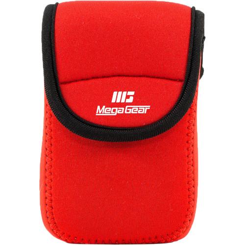 MegaGear Ultra-Light Neoprene Camera Case for Nikon Coolpix W300, AW130, Ricoh WG30W, WG50 (Orange)