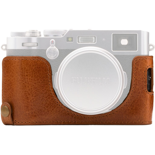 MegaGear Ever Ready Leather Half Case and Strap for Fujifilm X100F (Brown)