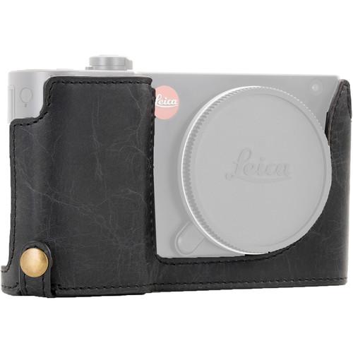 MegaGear Ever Ready Leather Half-Bottom Camera Case for Leica TL2, TL (Black)