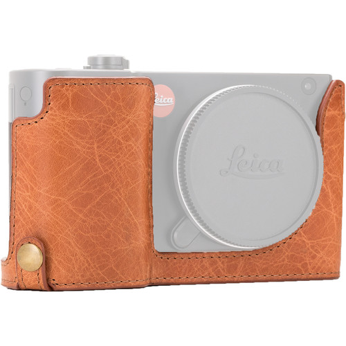 MegaGear Ever Ready Leather Half-Bottom Camera Case for Leica TL2, TL (Light Brown)