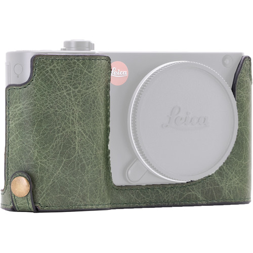 MegaGear Ever Ready Leather Half-Bottom Camera Case for Leica TL2, TL (Forest Green)