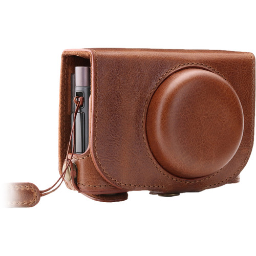 MegaGear Ever Ready Leather Camera Case for Leica C Typ 112 (Brown)