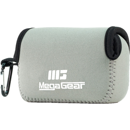 MegaGear Ultra-Light Neoprene Camera Case with Carabiner for Leica C Typ 112 (Gray)