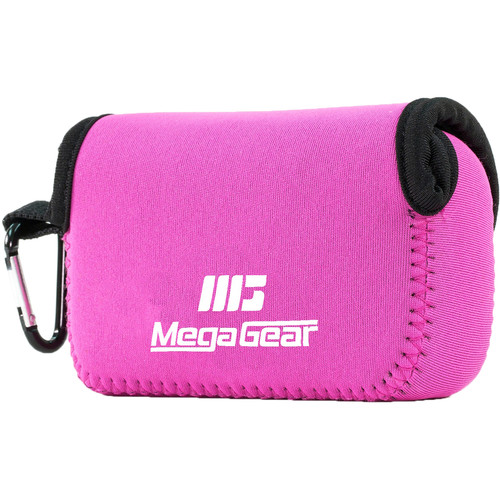 MegaGear Ultra-Light Neoprene Camera Case with Carabiner for Leica C Typ 112 (Hot Pink)