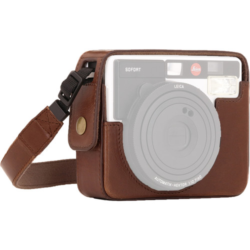 MegaGear Ever Ready PU Leather Camera Case for Leica Sofort Instant (Dark Brown)