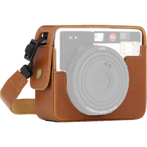 MegaGear Ever Ready PU Leather Camera Case for Leica Sofort Instant (Light Brown)